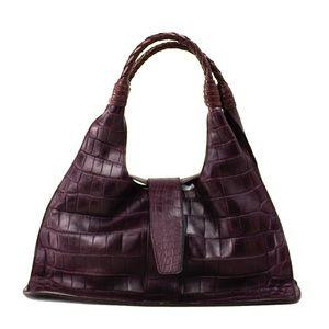 Bottega Veneta Rich Purple Alligator Handbag